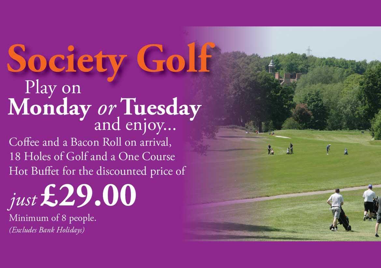 Society Golf Offer