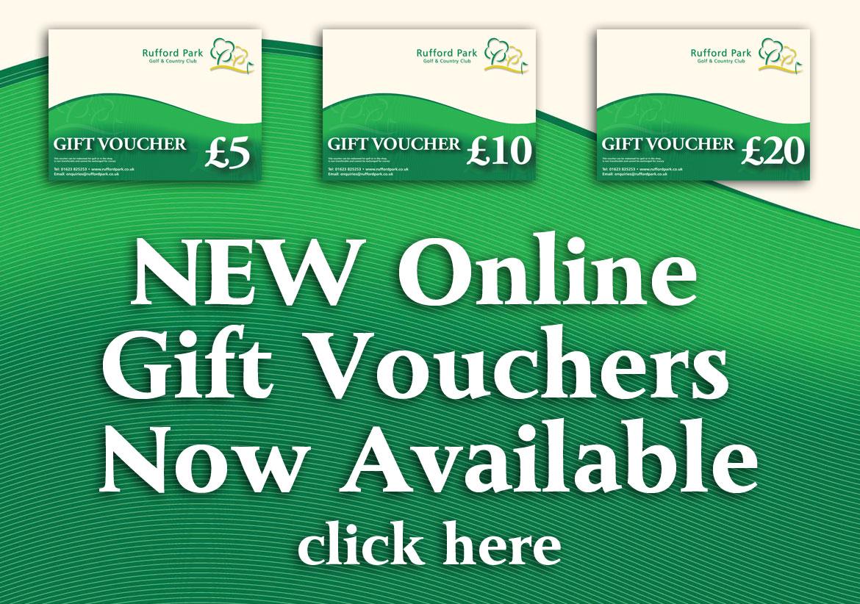 rufford park golf gift vouchers